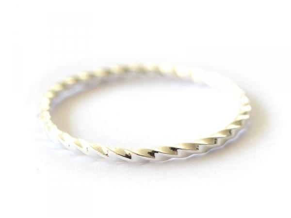 design intemporel 5ac06 13601 Bague torsade / tresse - anneau argenté