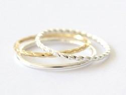 Twisted / braided ring - silver-coloured ring