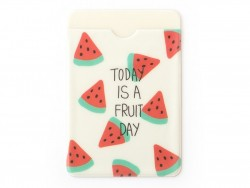 Card wallet - watermelon pattern - Today is a fruity day