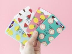 Acheter porte-carte - motifs pastèques - Today is a fruit day - 4,50€ en ligne sur La Petite Epicerie - Loisirs créatifs