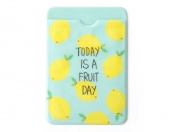 Card wallet - lemon pattern - Today is a fruity day