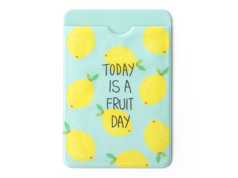 porte-carte - motifs citrons  - Today is a fruit day  - 1