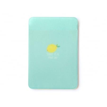 porte-carte - motifs citrons  - Today is a fruit day  - 2