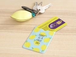 Acheter porte-carte - motifs citrons - Today is a fruit day - 4,50€ en ligne sur La Petite Epicerie - 100% Loisirs créatifs