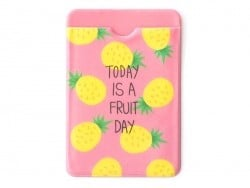 Card wallet - pineapple pattern - Today is a fruity day