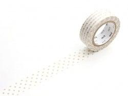Patterned masking tape - gold-coloured polka dots Masking Tape - 1