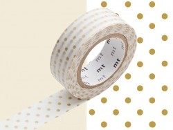 Masking Tape motif - pois doré