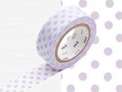 Masking Tape motif - pois parmes
