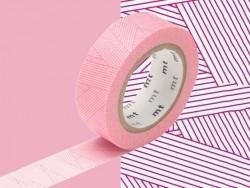 Masking Tape motif - rayures rouges