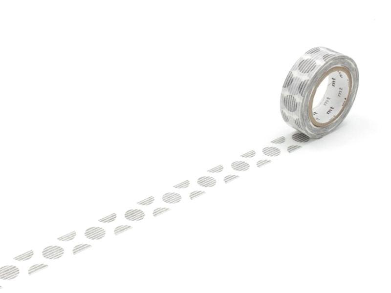 Patterned masking tape - black striped polka dots Masking Tape - 1