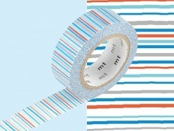 Patterned masking tape - blue stripes Masking Tape - 2