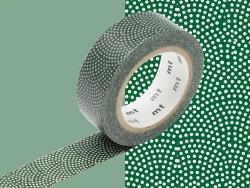Masking Tape motif - pois rosacé blanc