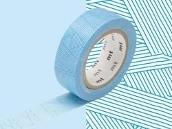 Masking Tape motif - rayures cyan