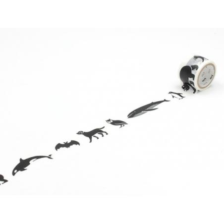 Acheter Masking tape à motifs - black animals - 5,60€ en ligne sur La Petite Epicerie - Loisirs créatifs