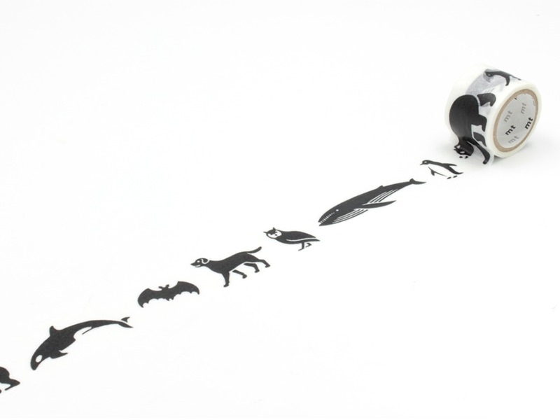 Masking tape à motifs - black animals Masking Tape - 1