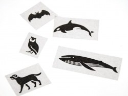 Masking Tape motif - black animals