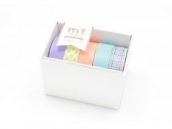 Boite cadeau Masking tape - Pastel