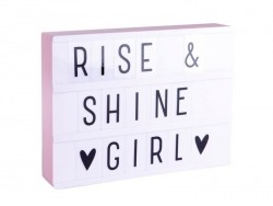 A4 Lightbox - pastel pink frame - Lightbox with letters
