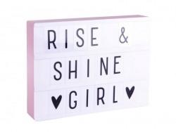Acheter Lightbox A4 rose pastel - boîte lumineuse + lettres - 24,49€ en ligne sur La Petite Epicerie - 100% Loisirs créatifs