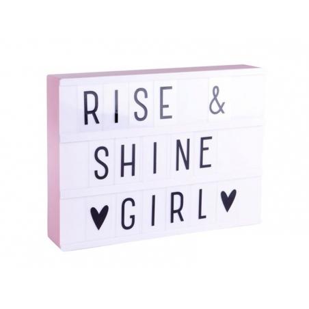 Acheter Lightbox A4 rose pastel - boîte lumineuse + lettres - 24,49€ en ligne sur La Petite Epicerie - Loisirs créatifs