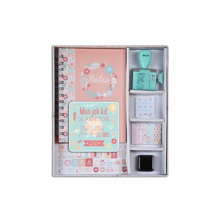 """Mon joli kit de papeterie"" (My beautiful stationery kit)"