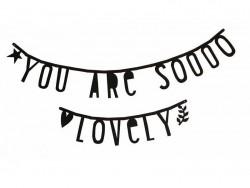 Guirlande lettres - composez vos phrases - alphabet noir