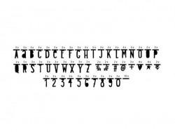 Letter garland - make your own messages - black alphabet