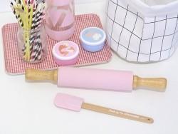 Spatule en silicone - rose