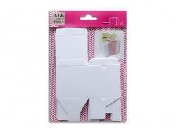 6 white paper boxes