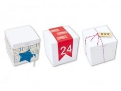 6 boites en carton blancs