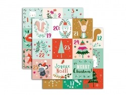 Advent calendar stickers