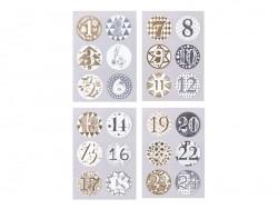 Stickers ronds calendrier de l'avent - doré / argenté Rico Design - 1