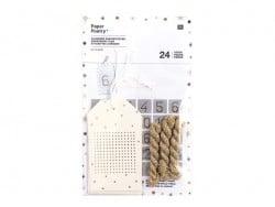 Etiquettes à broder de l'Avent - doré Rico Design - 1