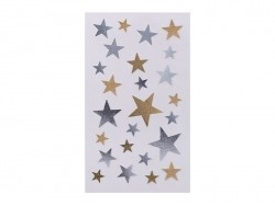 Gold- and silver-coloured star stickers