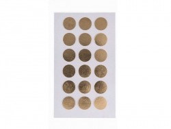 Round gold-coloured stickers