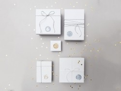 Round advent calendar stickers - gold-coloured/silver-coloured