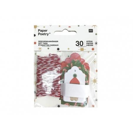 Acheter Etiquettes cadeaux - Noël - 4,90€ en ligne sur La Petite Epicerie - Loisirs créatifs