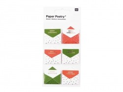 Stickers 3D - enveloppes rouges et vertes