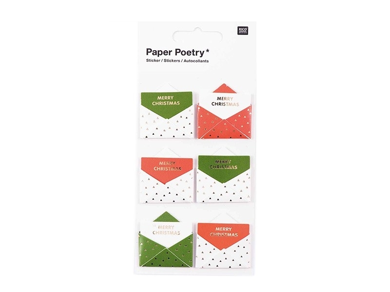 3D stickers - red and green envelopes