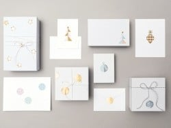 Stickers - gold- and pastel-coloured fir trees