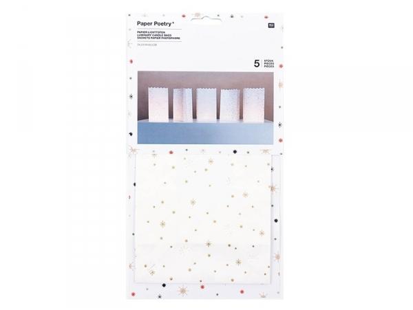 Acheter 5 grands sachets papier photophore - flocon avec dorure - 7,20€ en ligne sur La Petite Epicerie - Loisirs créatifs