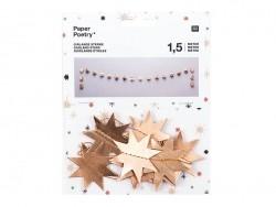 Guirlande en papier - étoiles dorées Rico Design - 1