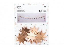 Paper garland - gold-coloured stars