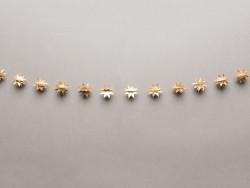 Guirlande en papier - étoiles dorées