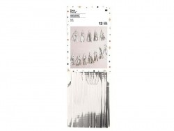 Paper garland - silver-coloured tassels