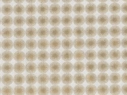 Printed fabric - white with gold-coloured rosettes