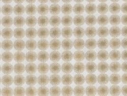 Tissu imprimé - blanc à rosaces dorées
