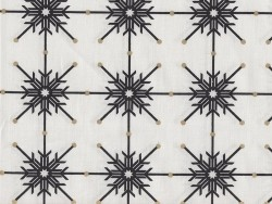 Printed fabric - white with black flakes