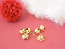 6 clochettes 12 mm - dorés