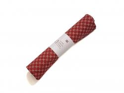 Coupon de tissu - rouge à losanges